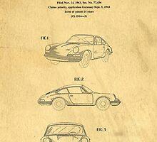 PORSCHE 911 CARRERA 1964 PATENT ART  by Edward Fielding