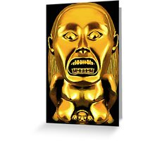 Golden Idol  Greeting Card