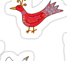 The most beautiful bird Sticker