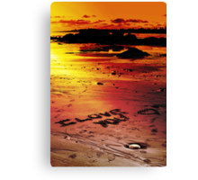 Love On The Beach (color version) Canvas Print