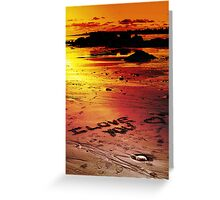 Love On The Beach (color version) Greeting Card