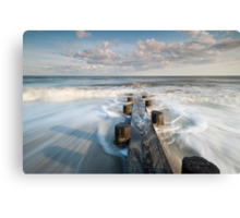 Folly Beach Charleston South Carolina Timber Erosion Control Structure Canvas Print