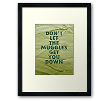Don't Let The Muggles Get You Down - Harry Potter Framed Print