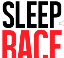 Eat Sleep Race Repeat Sticker