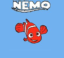 Pixel Retro Finding Nemo by thomparrish