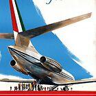 Alitalia Plane by Vintagee