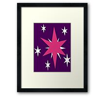 Twilight Sparkle's Cutie Mark Framed Print