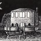 A Scene in Venice ( etching) by umasharda