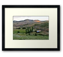Farm in Eastern Oregon Framed Print