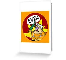 Mermaid Man- EVIL! Greeting Card