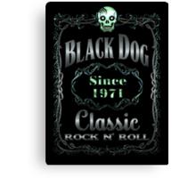 BLACK DOG LABEL - REEL STEEL Canvas Print
