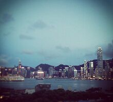 Hong Kong Harbour at Dusk by apeeski