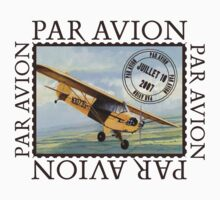 Vintage Airplane Par Avion Series by Zehda