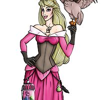 Steampunk Aurora - Sleeping Beauty - Pink  by HungryDesigns