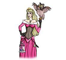 Steampunk Aurora - Sleeping Beauty - Pink  Photographic Print