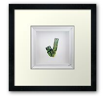 Green Tourmaline | Minerals and Crystal Series Framed Print