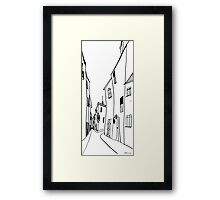 City street Framed Print