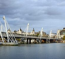 Hungerford Bridge, London by Carolyn Eaton