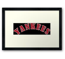 Boston Yankees Funny Geek Nerd Framed Print