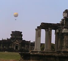 Hot Air Balloon at Ankor Wat- Cambodia by Coloursofnature