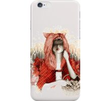 Little Red Riding Hood or wolf ? iPhone Case/Skin