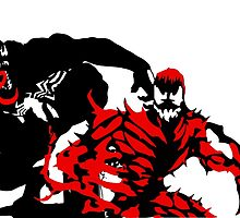 Venom & Carnage double silhouettes  by MacTots