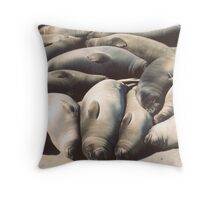 Seals of approval Throw Pillow