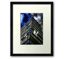 Heavens Above (A Tribute To Rene Magritte) Framed Print