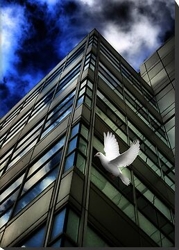 Heavens Above (A Tribute To Rene Magritte) by Paul Cook