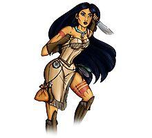 Steampunk Pocahontas Photographic Print