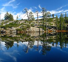 Reflections on Loch Leven Lakes by Stuart Green