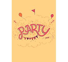 Party Hand-Lettering Photographic Print