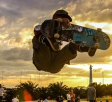 Skateboarder Jump Sticker