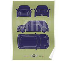 MINI Cooper R53 Spec Illustration Poster