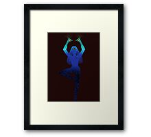 Third Eye Yoga Peacock Pose Framed Print