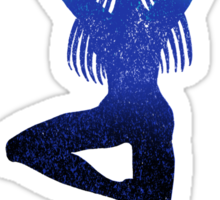 Third Eye Yoga Peacock Pose Sticker