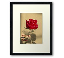 For My Love Vintage Valentine Greeting Card Framed Print