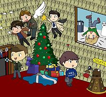 SuperWhoLock Christmas by RebeccaMcGoran