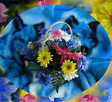 Basket of Flowers by Irene Clarke