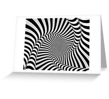 Black and White Spiral Greeting Card