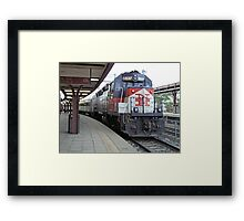 Shoreline East Commuter at New London Connecticut. Framed Print