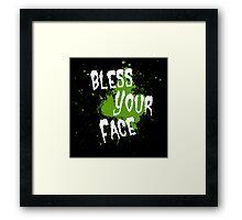 Tobuscus - Bless Your Face Framed Print