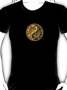 Yellow and Black Yin Yang Geckos T-Shirt