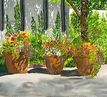 Sunny Day Shadows Watercolor by AngelaBishop