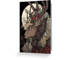 The Elk King Greeting Card