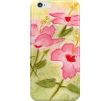 Hibiscus Watercolor iPhone Case/Skin