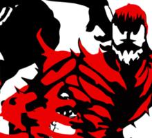 Venom & Carnage double silhouettes  Sticker