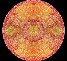 Mandala Of Perception (blk) by Chris McKinney