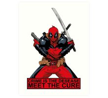 Deadpool - meet the cure #2 Art Print