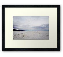 An infinity of salt. Framed Print